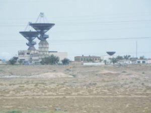 Sledovací stanice Saturn, odkud byl vydán signál k aktivaci záchranné věžičky