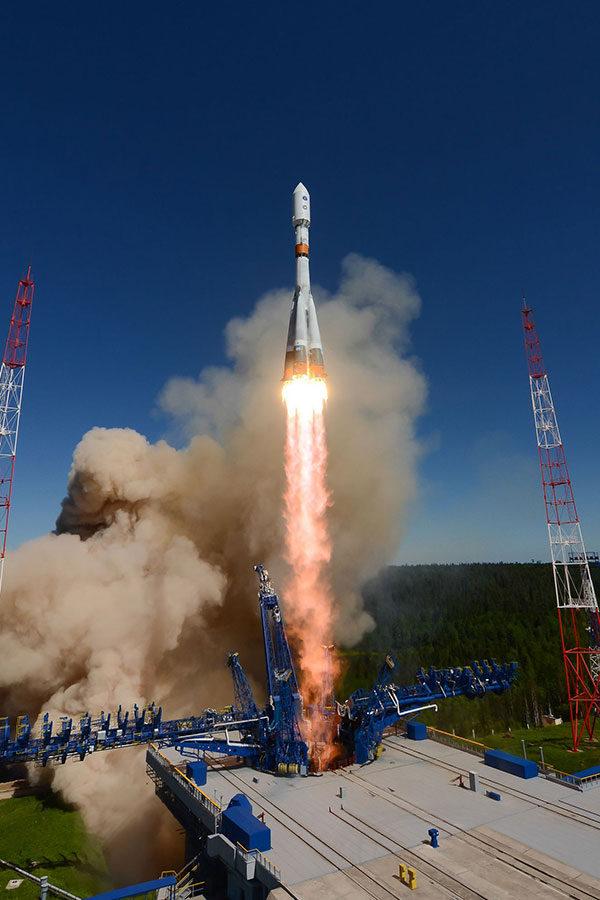 Sojuz stoupá k obloze
