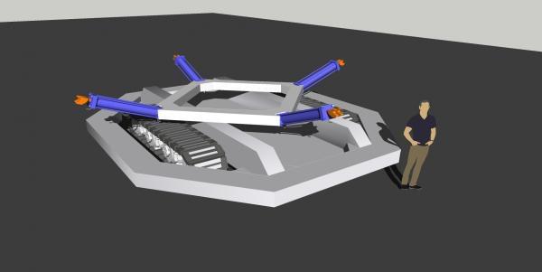 Fanouškovská vizualizace robota Roomba.