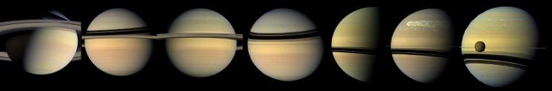 Saturn v různých ročních obdobích