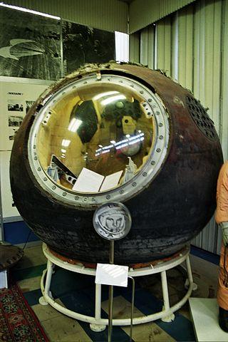 Ohořelá kabina Vostoku-1