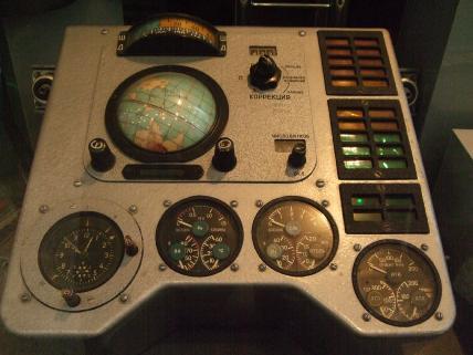 Hlavní přístrojový panel Vostoku