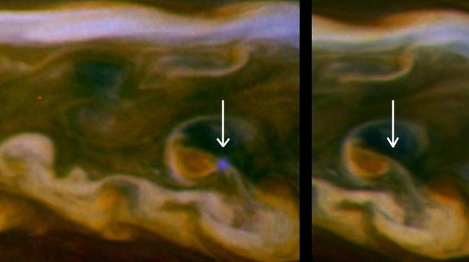 Blesk v atmosféře Saturnu