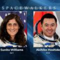Sunita Willaimsová a Akihiko Hoshide - dva účastníci vesmírné procházky