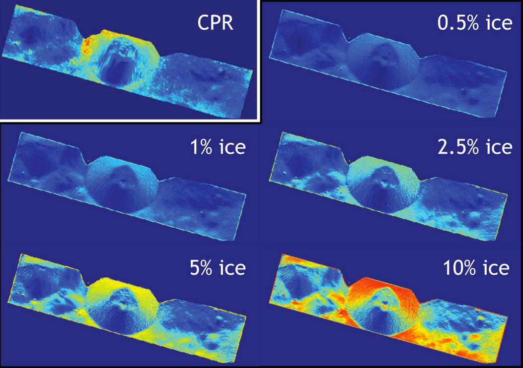 Rozložení ledu v kráteru