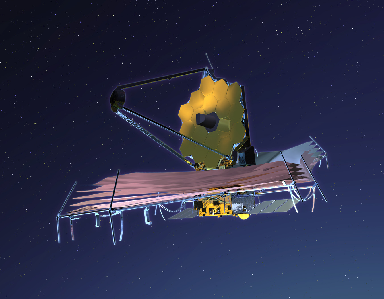 Takto bude vypadat Dalekohled Jamese Webba na oběžné dráze