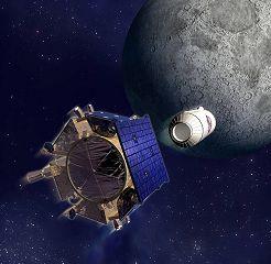 Družice LCROSS a raketový stupeň Centaur