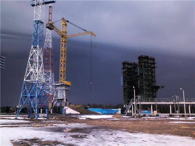 Startovní rampa pro rakety Angara na kosmodromu Pleseck (foceno v dubnu 2012)