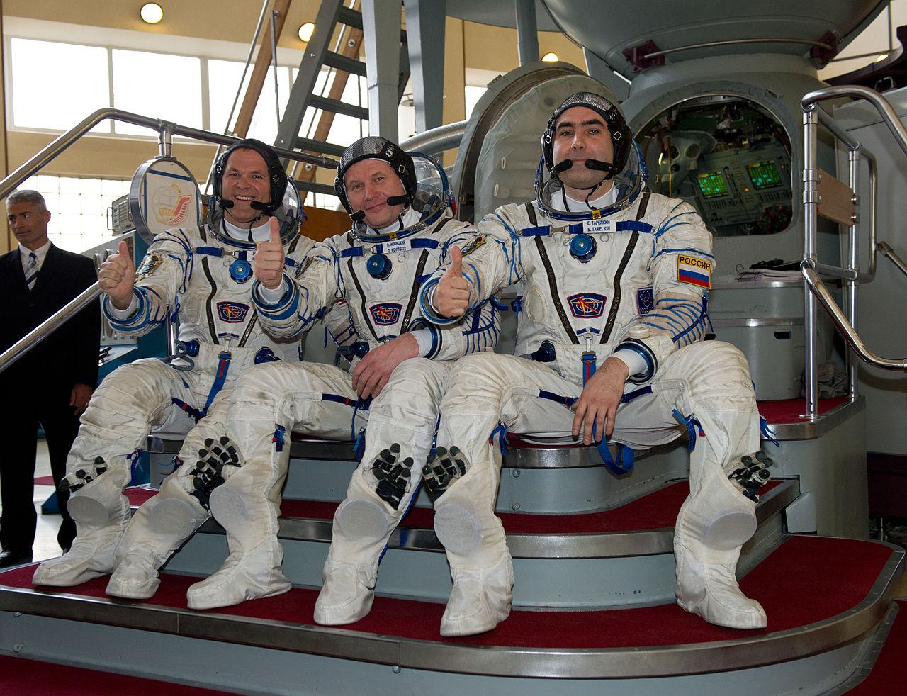 Posádka Sojuzu TMA-06M Kevin Ford - Oleg Novickij - Jevgenij Tarelkin