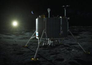Evropský lunární modul po přistání