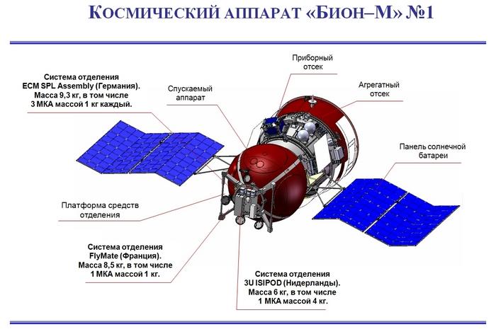 Celkový pohled na Bion-M