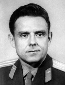 Velitel Sojuzu-1 plukovník Vladimir Michailovič Komarov