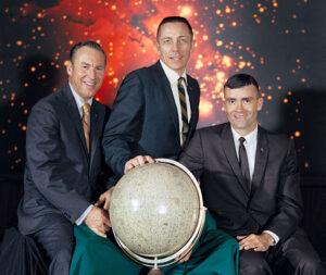 Astronauti Apolla-13: zleva Lovell, Swigert, Haise