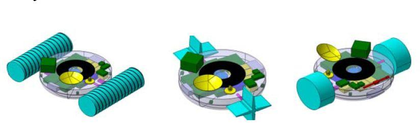 Různé varianty pohonu sondy TALISE