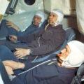 Posádka Sojuzu-10: (odzadu) Jelisejev, Šatalov, Rukavišnikov