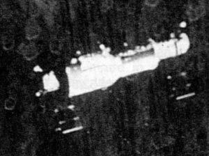 Pohled na Saljut-1 z paluby odlétajícího Sojuzu-11