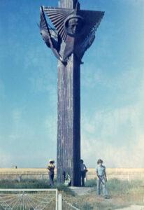 Památník na místě přistání Sojuzu-11