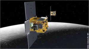 Sondy Ebb a Flow na oběžné dráze Měsíce
