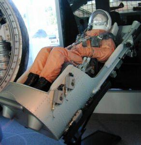 Katapultovací křeslo firmy Zvezda pro kosmonauty Vostoků