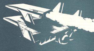 Plánovaný sovietsky raketoplán druhej generácie. Prvý stupeň už dohorel a tak sa z lietadla oddeľuje orbiter, ktorý doletí až na orbitu.