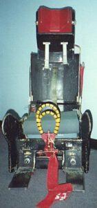 Katapultážní sedadlo SR-1, používané u prvních čtyř misí raketoplánu