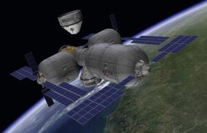 Možná podoba nafukovacej vesmírnej stanice od firmy Bigelow Aerospace.