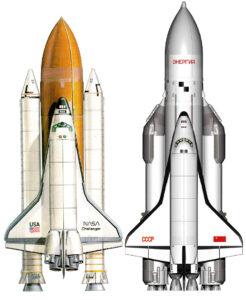 Americký a sovietsky raketoplán prvej generácie