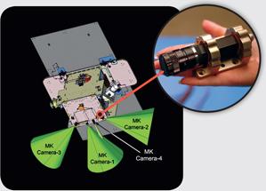MoonKAM a jejich umístění na sondě GRAIL zdroj:nasa.gov