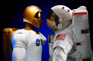 Robonaut 2 a skafandr astronauta