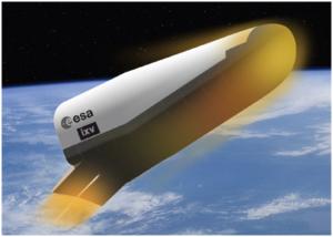 Európsky plánovaný miniraketoplán IXV. Pri vstupe do atmosféry sa mu rozpaľuje tepelný štít až na 1500 stupňov.