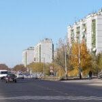 Bajkonur city je súčasťou kozmodrómu. Býva tu viac ako 70 000 zamestnancov so svojimi rodinami.