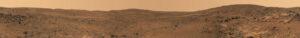 Panoramatická fotografia vytvorená na vrchole hory Husband Hill.