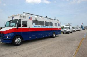 Velitelský vůz konvoje vozidel na KSC