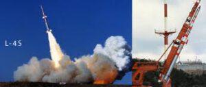 Japonská raketa lambda krátko po štarte.