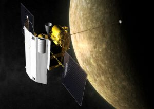 MESSENGER na orbitě Merkuru.