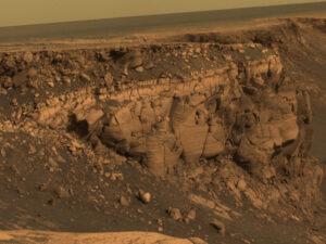 Posledný pohľad na kráter Victoria