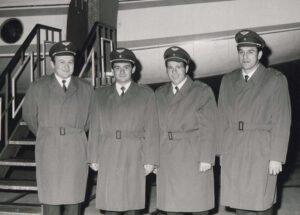 Čtyři kandidáti před odletem na testy do Moskvy: (zleva) Remek, Pelčák, Vondroušek, Klíma