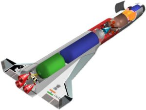 Plánovaný indický raketoplán AVATAR-1