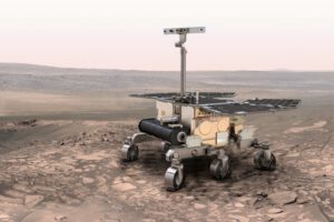 Umělecká představa vozítka pro misi ExoMars.