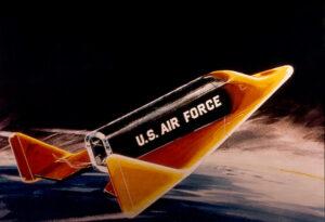 Miniraketoplán Dyna Soar. Nakoniec zostalo iba pri slovách a projekt sa zrušil teste pred začatím reálnych testov.