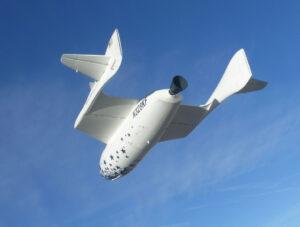 Prvý komerčný suborbitálny raketoplán SpaceShipOne.