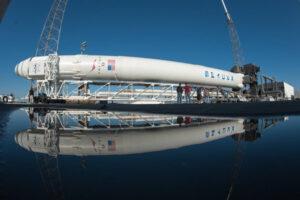 Falcon 9 při přípravách na start