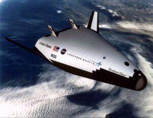 Plánovaný raketoplán Venture Star. Nakoniec bohužiaľ zostalo iba pri prázdnych sľuboch.