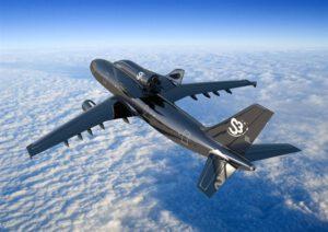 Raketoplán na Airbusu A300 v představách umělce