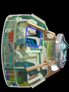 CST-100 rozložení míst pro kosmonauty zdroj:boeing.com