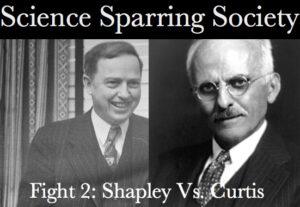 Hlavní protagonisté Velké debaty Harlow Shapley a Herber Curtis zdroj:http://acmescience.com