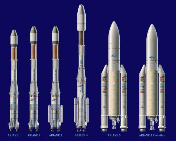 Rodina raket Ariane.