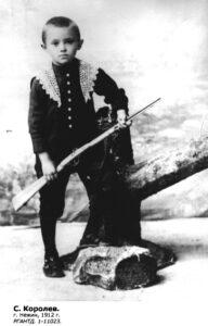 Malý Sergej Koroljov v roce 1912
