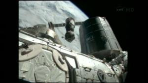 Sojuz TMA-07M odlétá od ISS.