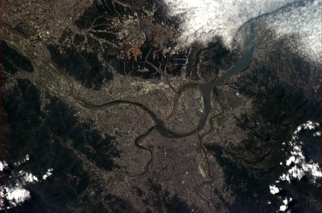 Tchaj-wanem protékající řeka Tamsui